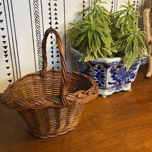Small brown wicker basket| High Quality wicker Bas